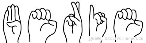 Berie in Fingersprache für Gehörlose