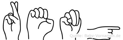 Reng im Fingeralphabet der Deutschen Gebärdensprache