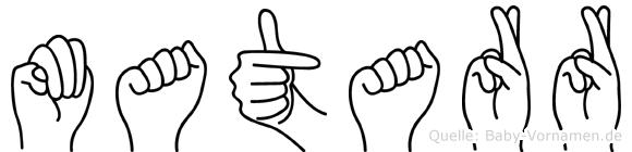 Matarr in Fingersprache für Gehörlose