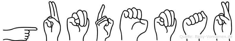 Gundemar in Fingersprache für Gehörlose