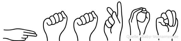 Haakon in Fingersprache für Gehörlose