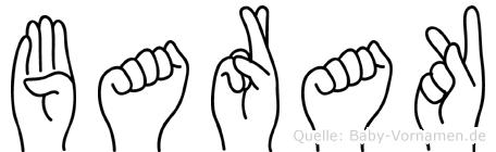 Barak im Fingeralphabet der Deutschen Gebärdensprache