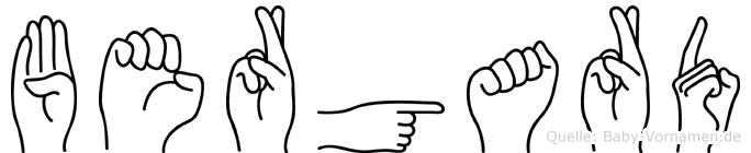 Bergard in Fingersprache für Gehörlose