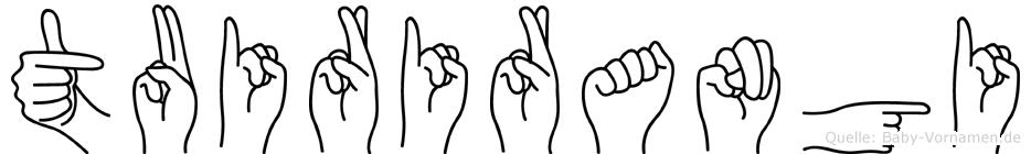Tuirirangi im Fingeralphabet der Deutschen Gebärdensprache