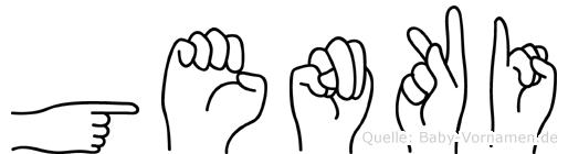 Genki im Fingeralphabet der Deutschen Gebärdensprache