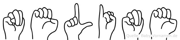Neline im Fingeralphabet der Deutschen Gebärdensprache