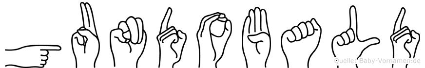 Gundobald in Fingersprache für Gehörlose