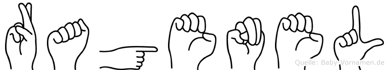 Ragenel im Fingeralphabet der Deutschen Gebärdensprache