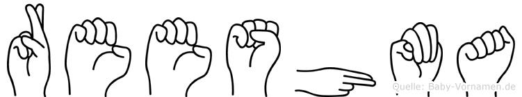 Reeshma im Fingeralphabet der Deutschen Gebärdensprache