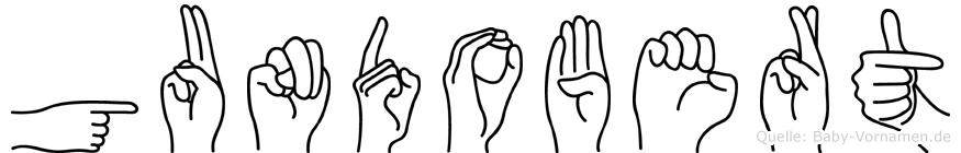 Gundobert im Fingeralphabet der Deutschen Gebärdensprache