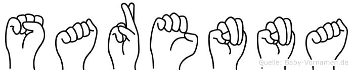 Sarenna in Fingersprache für Gehörlose