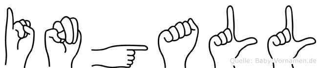 Ingall in Fingersprache für Gehörlose
