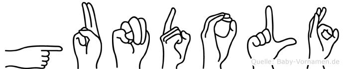 Gundolf im Fingeralphabet der Deutschen Gebärdensprache