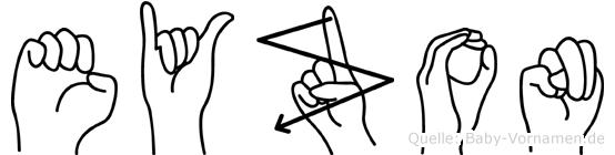 Eyzon in Fingersprache für Gehörlose