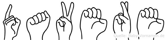 Davere in Fingersprache für Gehörlose