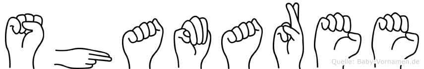 Shamaree im Fingeralphabet der Deutschen Gebärdensprache