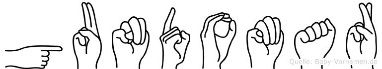 Gundomar in Fingersprache für Gehörlose