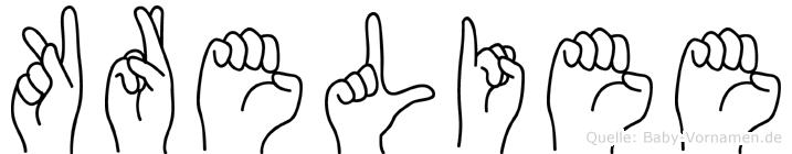 Kreliee in Fingersprache für Gehörlose