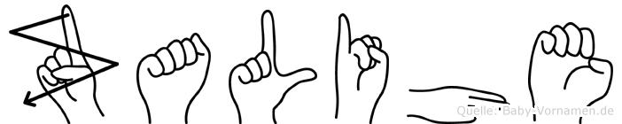 Zalihe in Fingersprache für Gehörlose