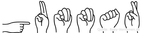 Gunnar in Fingersprache für Gehörlose