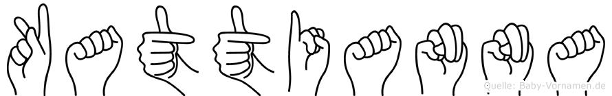 Kattianna im Fingeralphabet der Deutschen Gebärdensprache