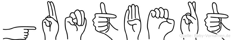 Guntbert in Fingersprache für Gehörlose