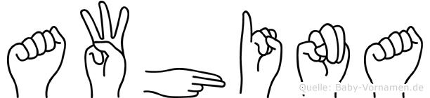 Awhina in Fingersprache für Gehörlose