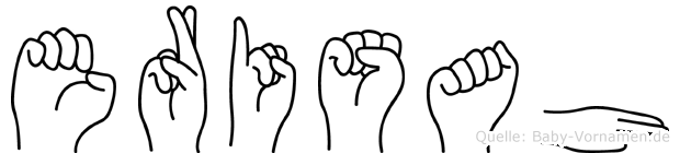 Erisah im Fingeralphabet der Deutschen Gebärdensprache