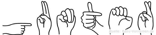 Gunter in Fingersprache für Gehörlose