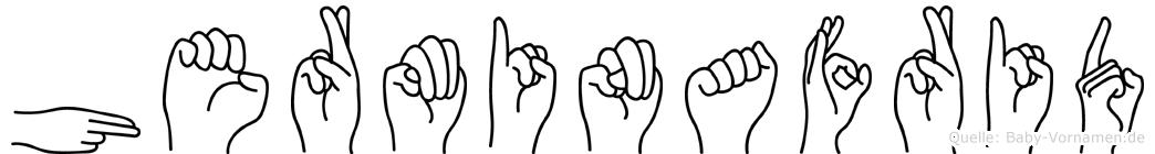 Herminafrid im Fingeralphabet der Deutschen Gebärdensprache