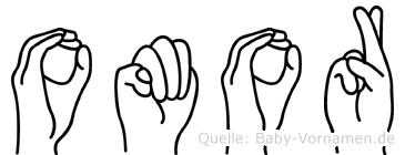 Omor im Fingeralphabet der Deutschen Gebärdensprache