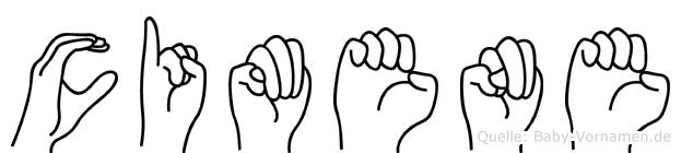 Cimene in Fingersprache für Gehörlose