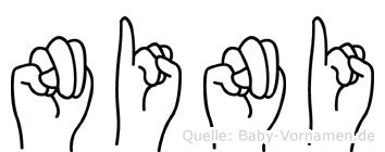Nini in Fingersprache für Gehörlose
