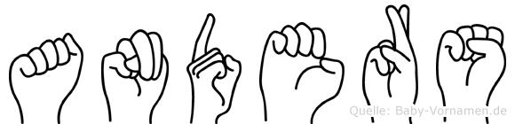 Anders in Fingersprache für Gehörlose