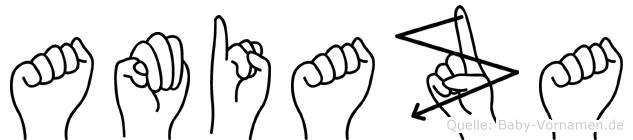 Amiaza in Fingersprache für Gehörlose