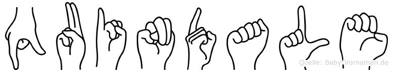 Quindale in Fingersprache für Gehörlose