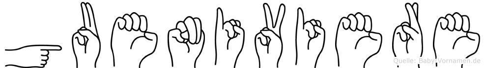 Gueniviere in Fingersprache für Gehörlose