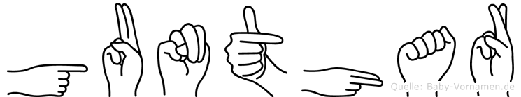 Gunthar in Fingersprache für Gehörlose