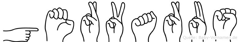 Gervarus im Fingeralphabet der Deutschen Gebärdensprache