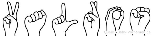 Valros in Fingersprache für Gehörlose