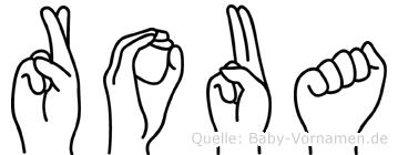 Roua in Fingersprache für Gehörlose
