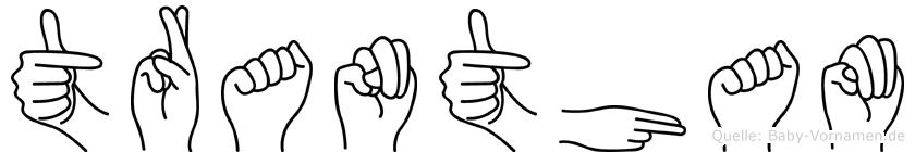 Trantham im Fingeralphabet der Deutschen Gebärdensprache