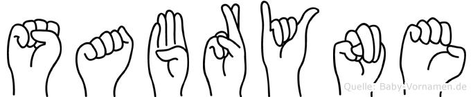 Sabryne in Fingersprache für Gehörlose