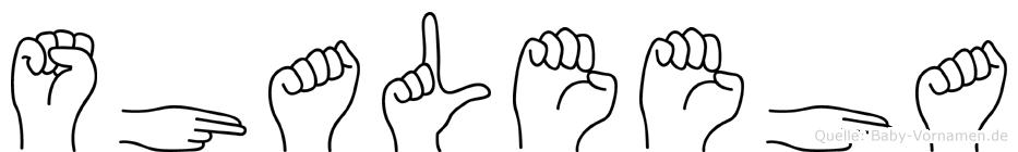 Shaleeha in Fingersprache für Gehörlose