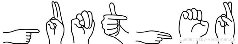 Gunther im Fingeralphabet der Deutschen Gebärdensprache