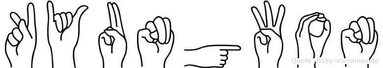 Kyungwon im Fingeralphabet der Deutschen Gebärdensprache