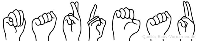 Mardeau in Fingersprache für Gehörlose