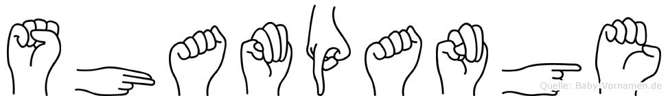 Shampange in Fingersprache für Gehörlose