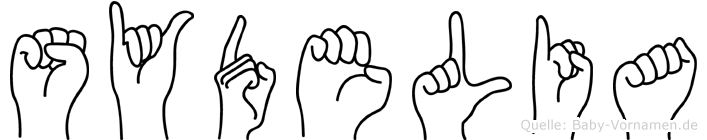 Sydelia im Fingeralphabet der Deutschen Gebärdensprache