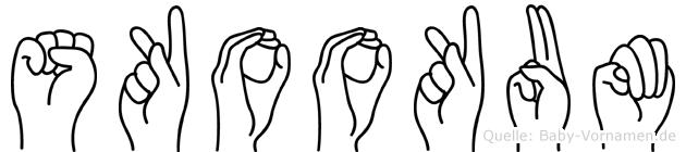 Skookum in Fingersprache für Gehörlose